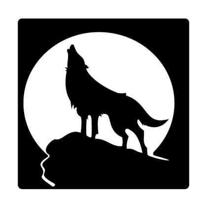 Howling Wolf Free Vector