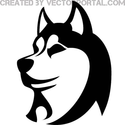 Husky Dog Image Free Vector