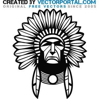 Indian Chief Graphics Free Vector