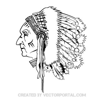 Indian Chief Grpahics Free Vector