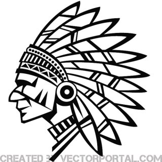 Indian Chief Stock Free Vector