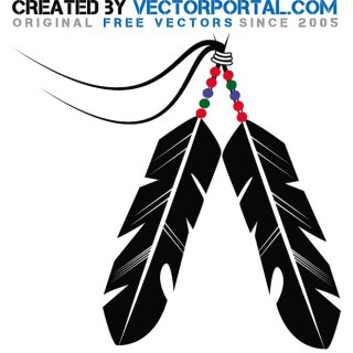 Indian Feather Stock Free Vector