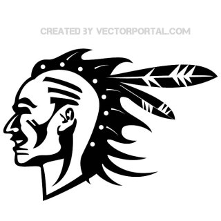 Indian Warrior Image Free Vector