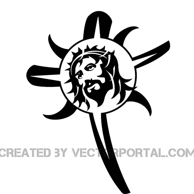 Jesus and The Cross Image Free Vector