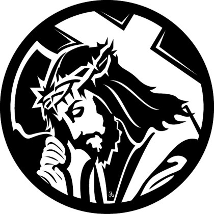 Jesus Carrying The Cross Free Vector