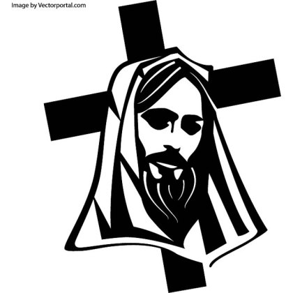 Jesus Christ and The Cross Free Vector