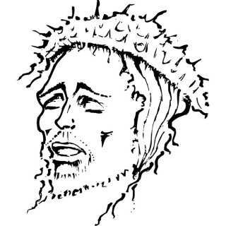 Jesus Christ Drawing 2 Free Vector