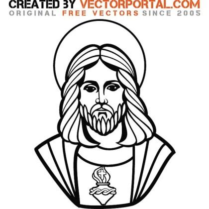 Jesus Christ Graphic Art Free Vector