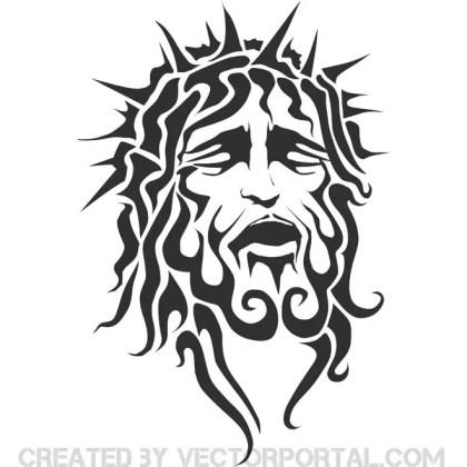 Jesus Drawing Free Vector