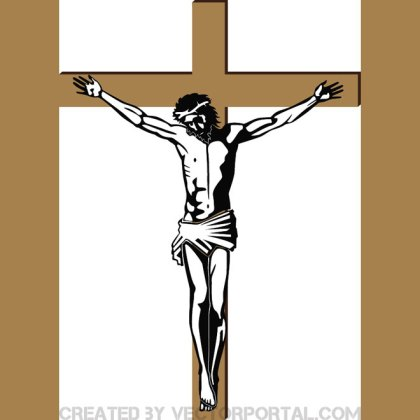 Jesus on The Cross Free Vector