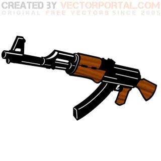 Kalashnikov Rifle Free Vector