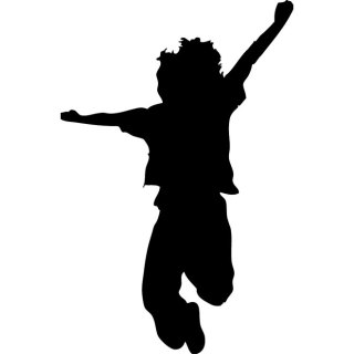 Kid Jumping Free Vector