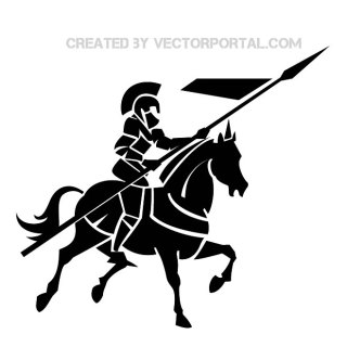 Knight on Horse Image Free Vector