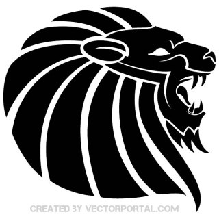 Lion Black Clipart Free Vector