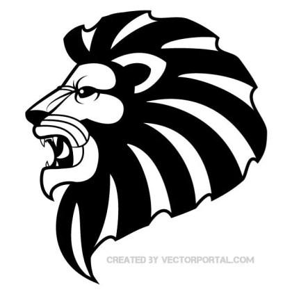 Lion Clip Art Free Vector