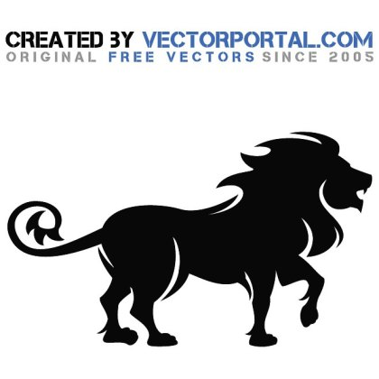 Lion Drawing Free Vector