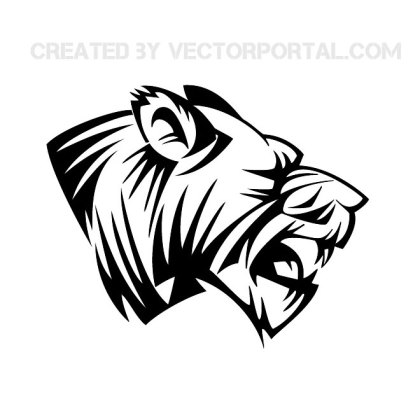 Lion Head Clip Art 2 Free Vector