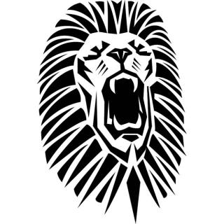 Lion Roaring Head Free Vector