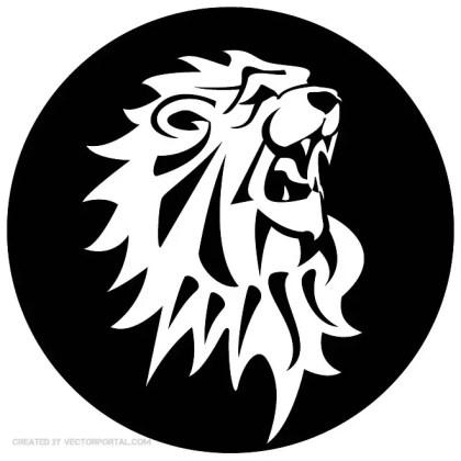 Lion Roaring Image Free Vector