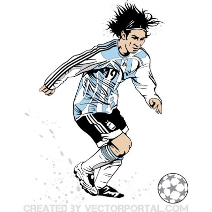 Lionel Messi Image Free Vector