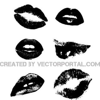 Lips Image Set Free Vector