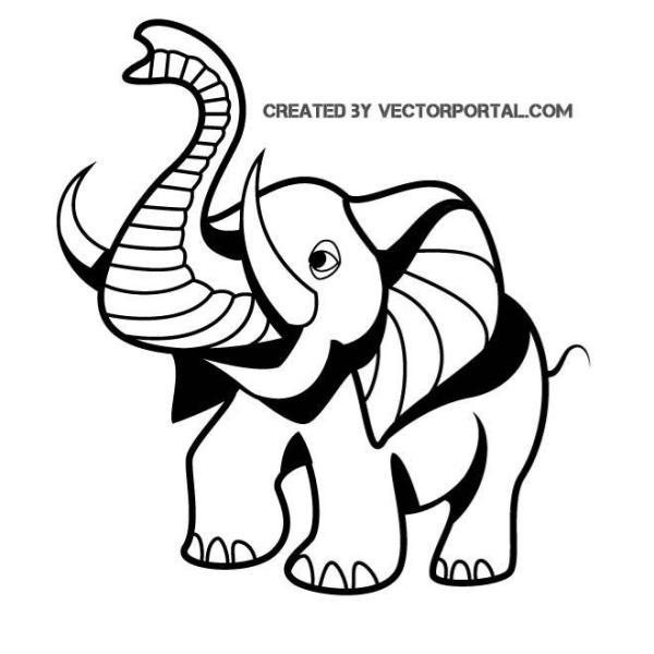 Little Elephant Graphics Free Vector