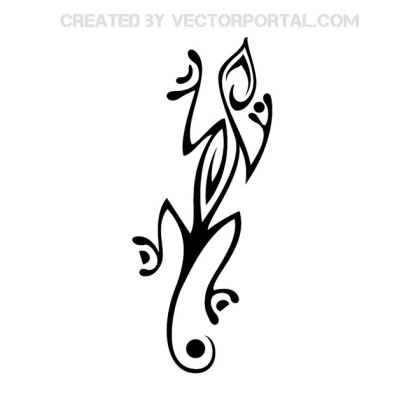Lizard Tribal Free Vector