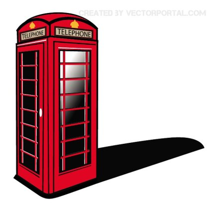 London Phone Booth Clip Art Free Vector