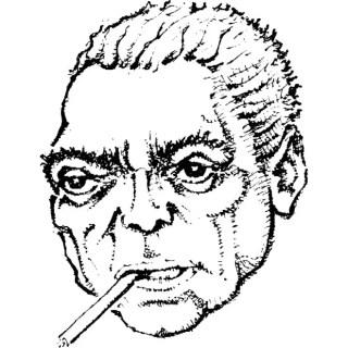 Man Smoking Cigar Illustration Free Vector