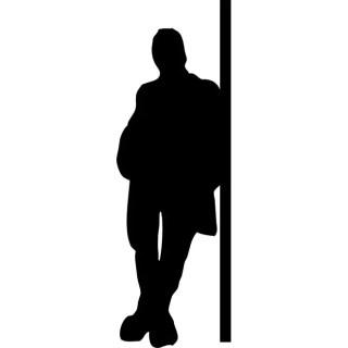 Man Standing Free Vector