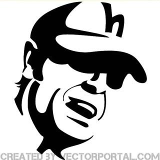 Man Wearing A Cap Free Vector