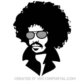 Man with Afro Hair Free Vector
