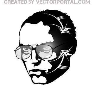 Man with Glasses Free Vector