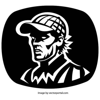 Man with The Cap Free Vector