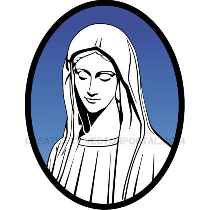 Mary Mother of Jesus Free Vector
