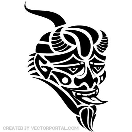 Mask of The Devil Graphics Free Vector