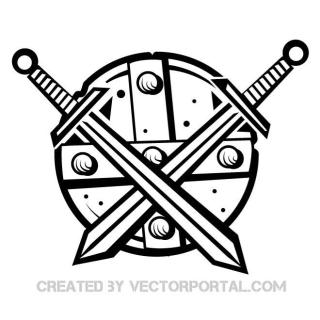 Medieval Shield Free Vector