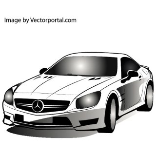 Mercedes Car Image Free Vector