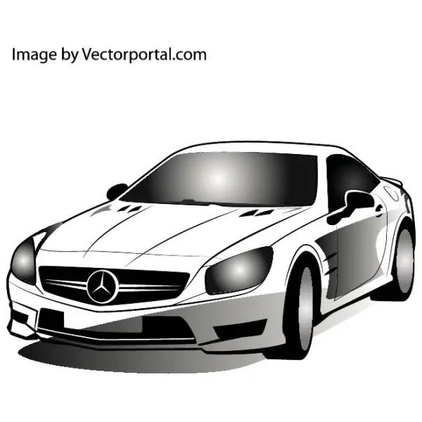 Mercedes Car Image Free Vector