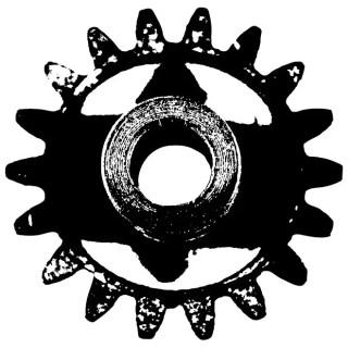 Metal Part Monochrome Free Vector