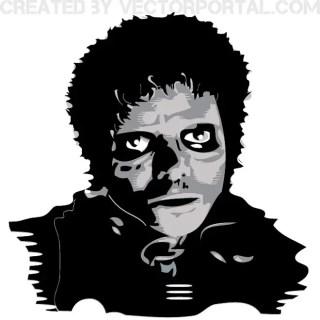 Michael Jackson Portrait Free Vector
