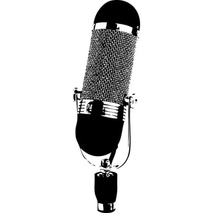 Microphone Monochrome Free Vector