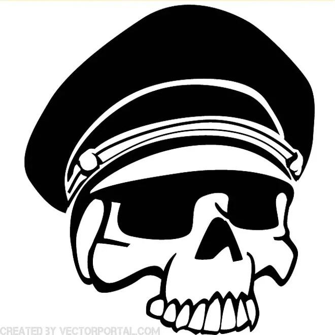 Military Skull Image Free Vector