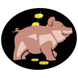 Money Box Pig Free Vector