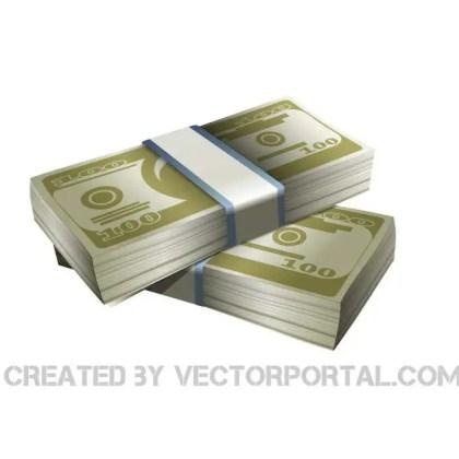 Money Stacks Clip Art Free Vector