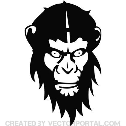 Monkey Face Free Vector