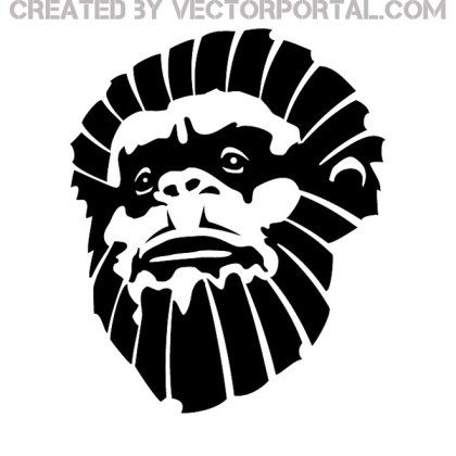 Monkey Face Image Free Vector