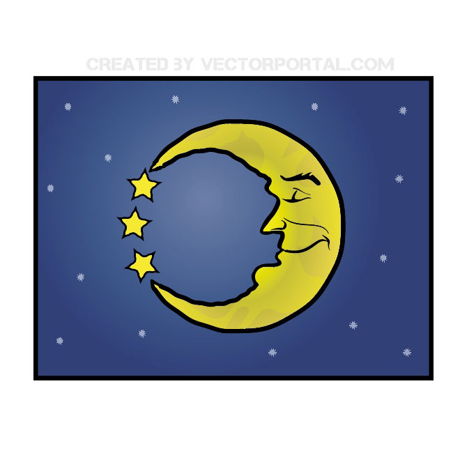 Moon Free Clipart Free Vector