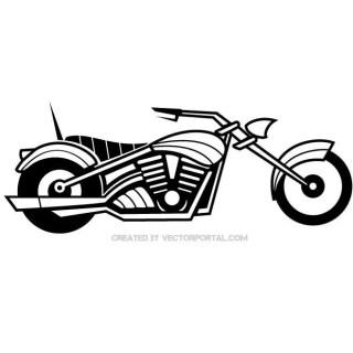 Motorbike Illustration Free Vector