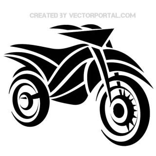 Motorbike Tribal Image Free Vector